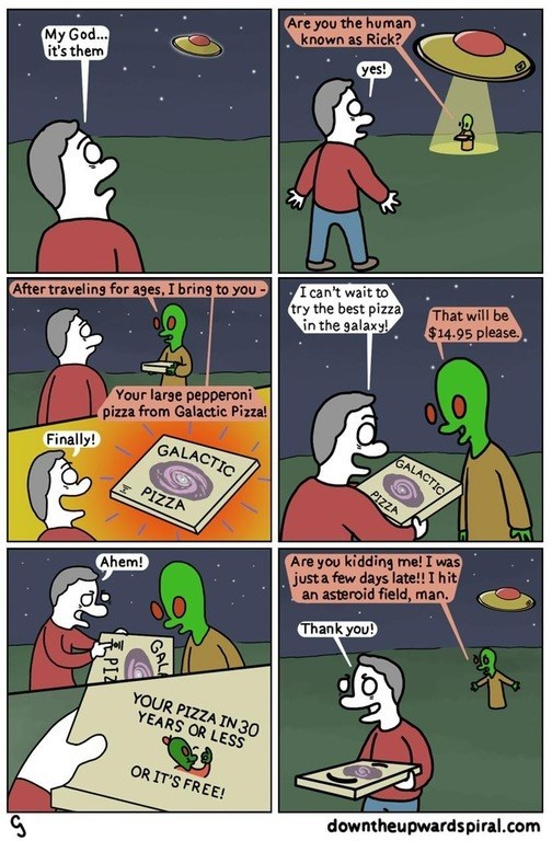 web comics aliens pizza You're Not Even Going to Tip?