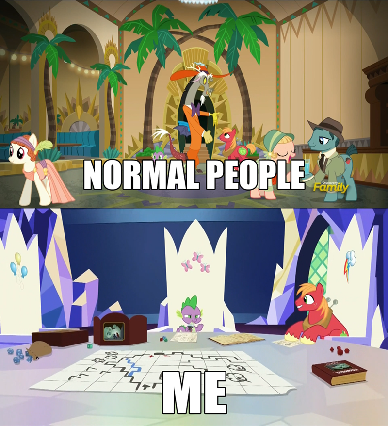 spike,discord,Big Macintosh,dungeons and discords,dungeons and dragons