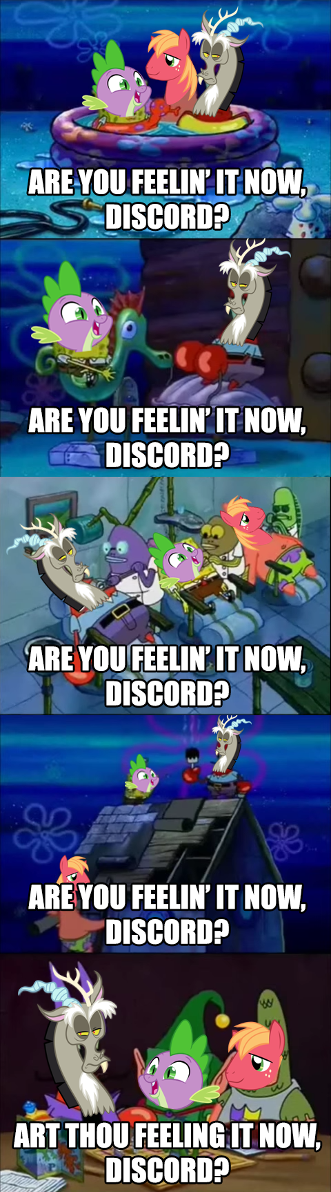 spike,discord,SpongeBob SquarePants,Big Macintosh,comic,dungeons and discords