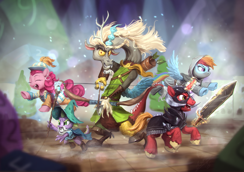 spike discord pinkie pie Big Macintosh dungeons and discords rainbow dash dungeons and dragons - 8972224768