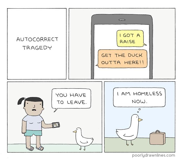 web comics autocorrect ducks Oh No!