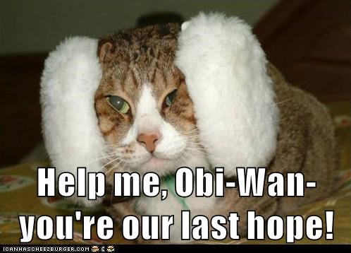 Help me, Obi-Wan- you're our last hope!
