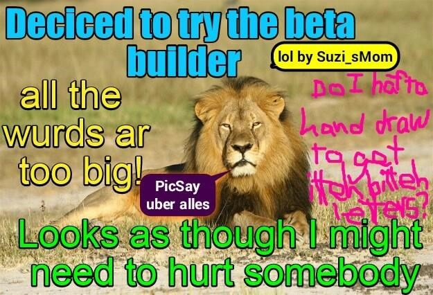 """For smarty phone peeps, it's still """"PicSay uber alles"""""""
