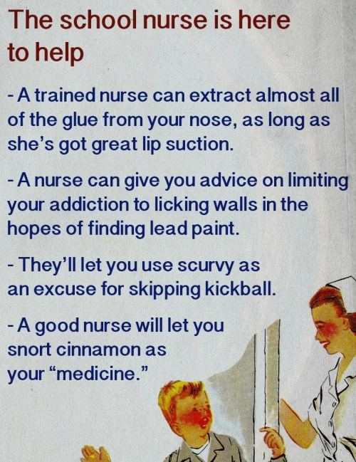 image parody school nurse Your School Nurse Is Here To Help!