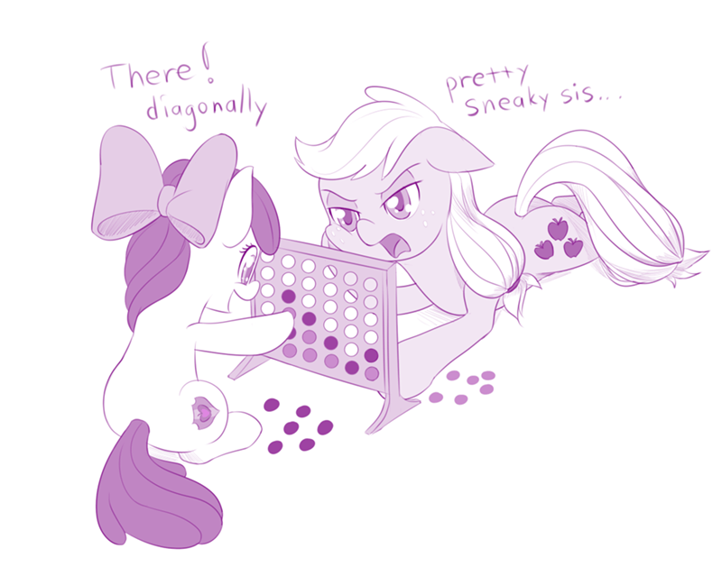 applejack,apple bloom,connect four