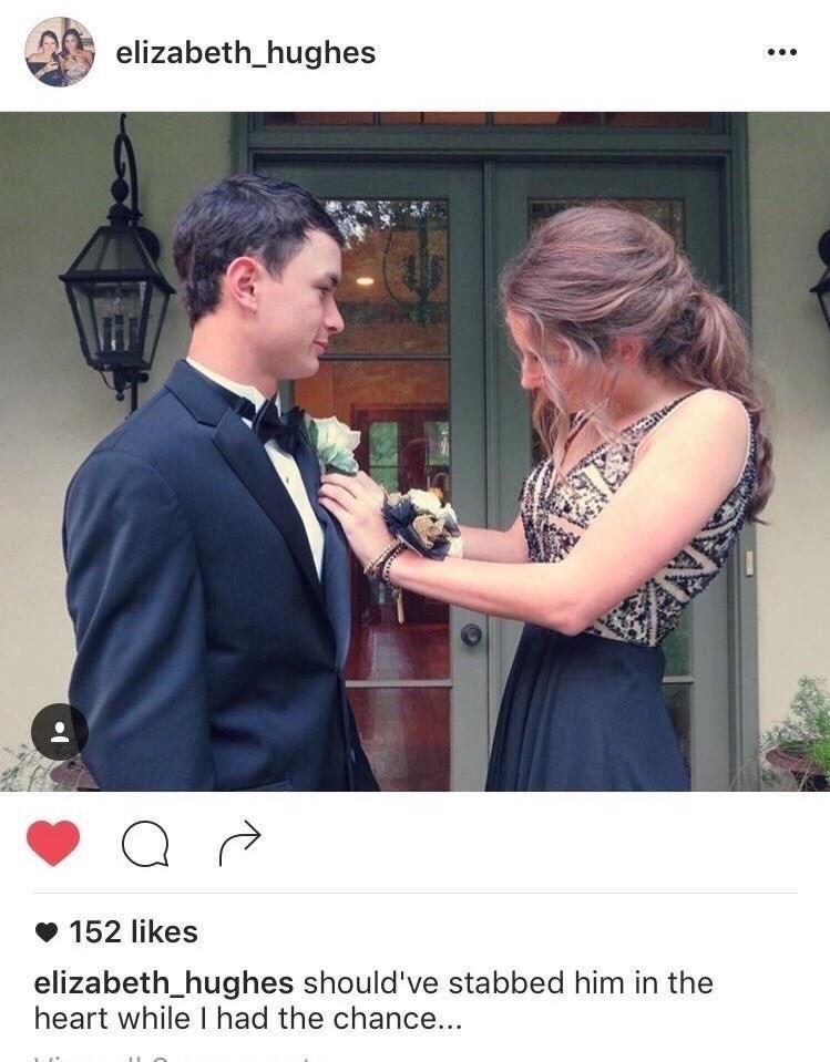 Photo caption - elizabeth_hughes 152 likes elizabeth_hughes should've stabbed him in the heart while I had the chance... ywnoe