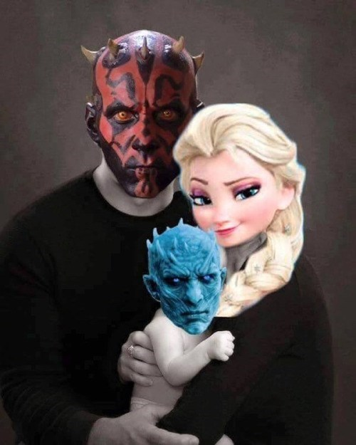 darth maul,frozen,Game of Thrones,ice king,star wars