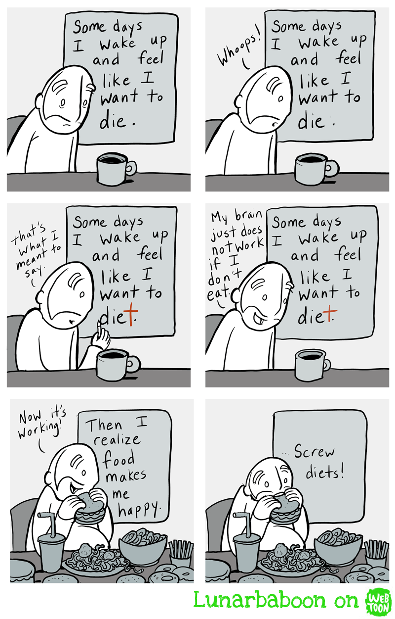 web comics diet food Gotta Eat to Live