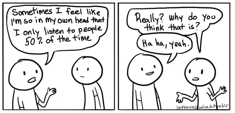 web comics selfish conversation Smile and Nod