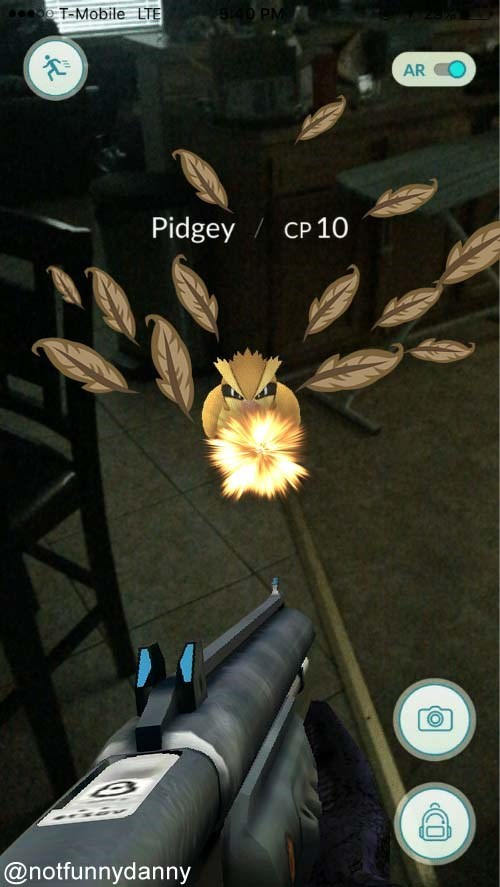 Action-adventure game - T-Mobile LTE S40 PM AR O Pidgey CP10 @notfunnydanny