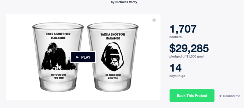 image memes harambe People Are Super Interested in Taking Shots for Harambe