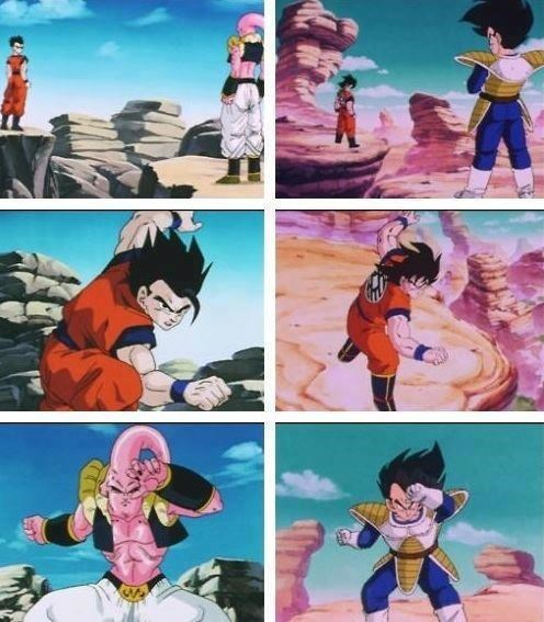 anime,gohan,Dragon Ball Z,vegeta,goku