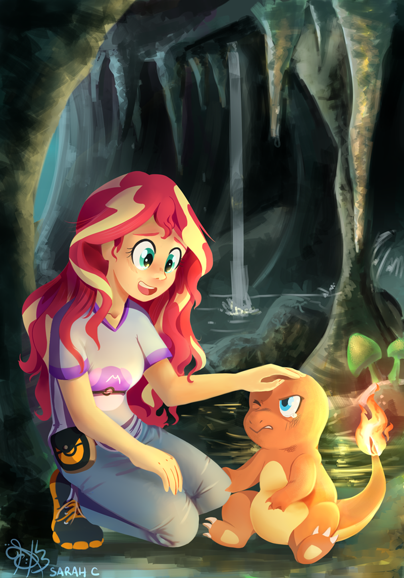 charmander,Pokémon,sunset shimmer