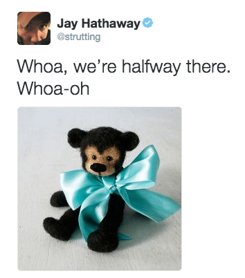 bon jovi meme - Stuffed toy - Jay Hathaway @strutting Whoa, we're halfway there. Whoa-oh