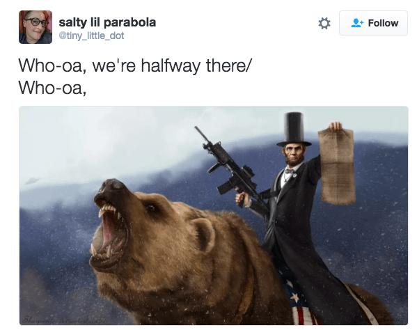bon jovi meme - Organism - salty lil parabola @tiny_little_dot Follow Who-oa, we're halfway there/ Who-oa,