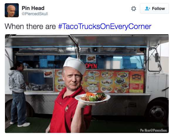Street food - Pin Head Follow @PiercedSkull When there are #TacoTrucksOnEveryCorner OPEN P HEAD@PERCEDSI 38