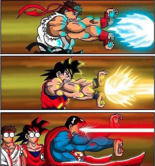 dragonball-meets-superman-trying-to-fit-in