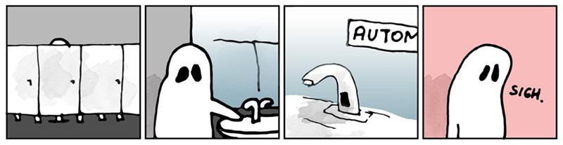 web comics ghosts technology Wait, Do Ghosts Need to Wash Their Hands?