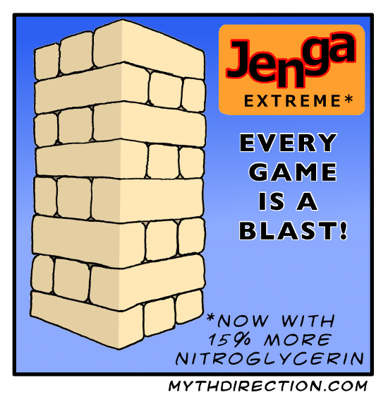 web comics explosion jenga It's a Lot Harder to Tell Who Won, But So Much More Volatile