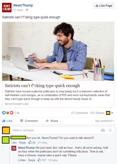 image satire facebook Make Satire Great Again Also