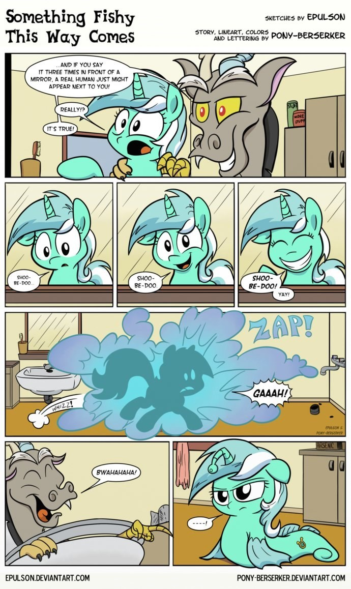 discord,lyra heartstrings,comic,sea ponies