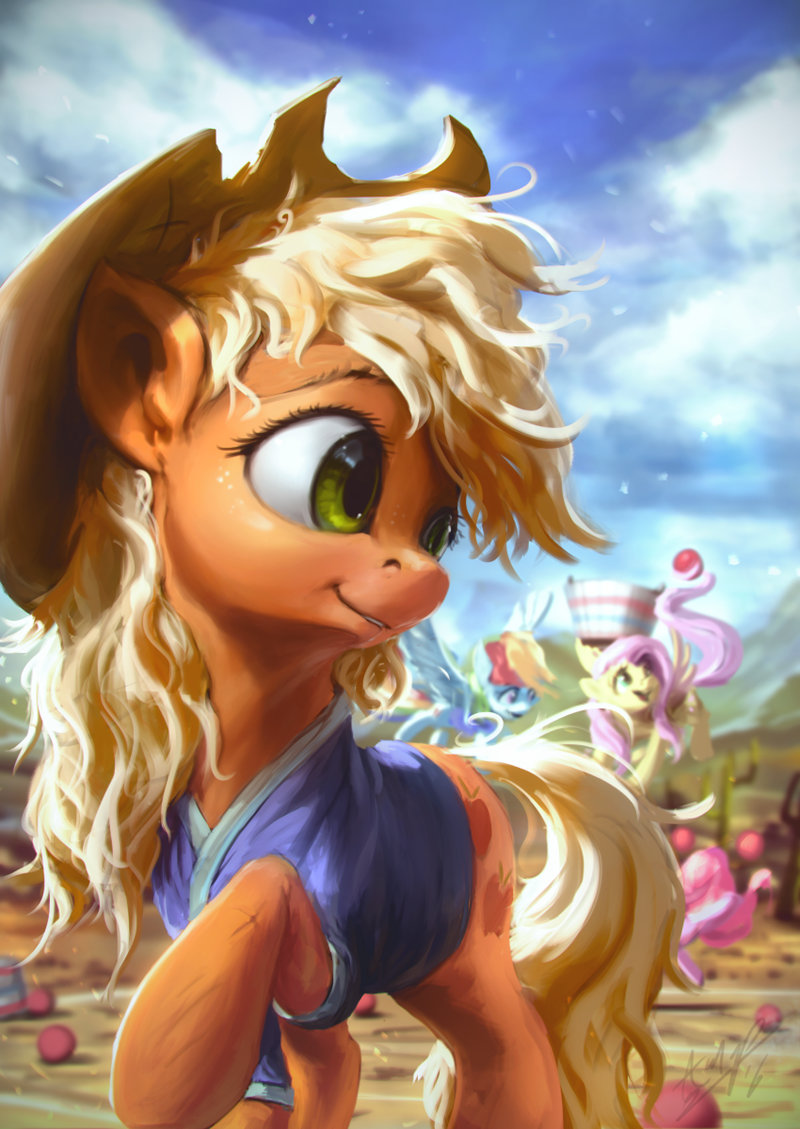 applejack,pinkie pie,buckball season,fluttershy,rainbow dash