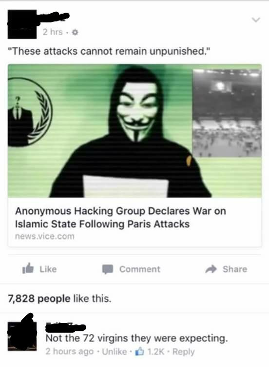 anonymous failbook facebook hacked isis
