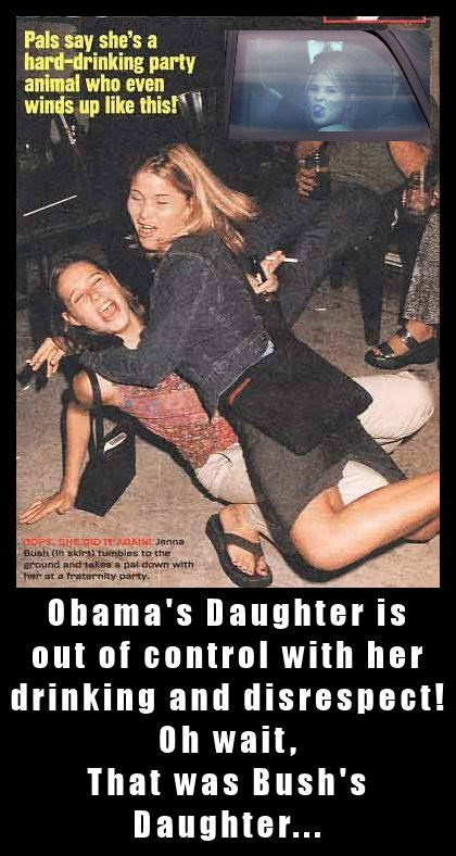Obama's Daughter is out of control with her drinking and disrespect!