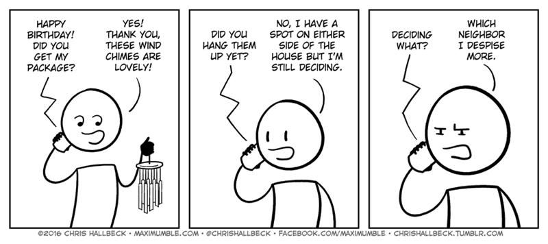 web comics neighbors wind chime Both Will Be Annoyed Regardless
