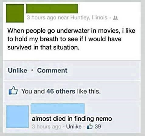 failbook facebook finding nemo