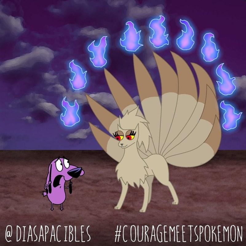 courage the cowardly dog scared of ninetails pokemon