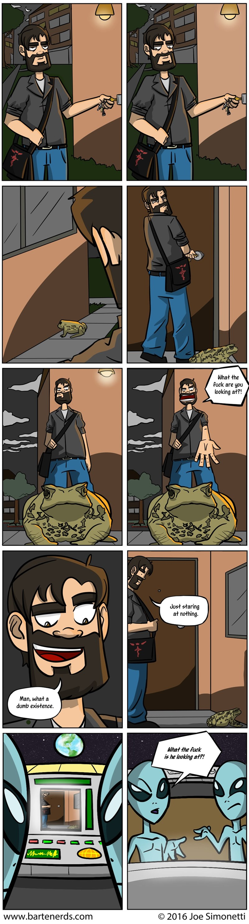 web comics existence aliens Dumb Humans