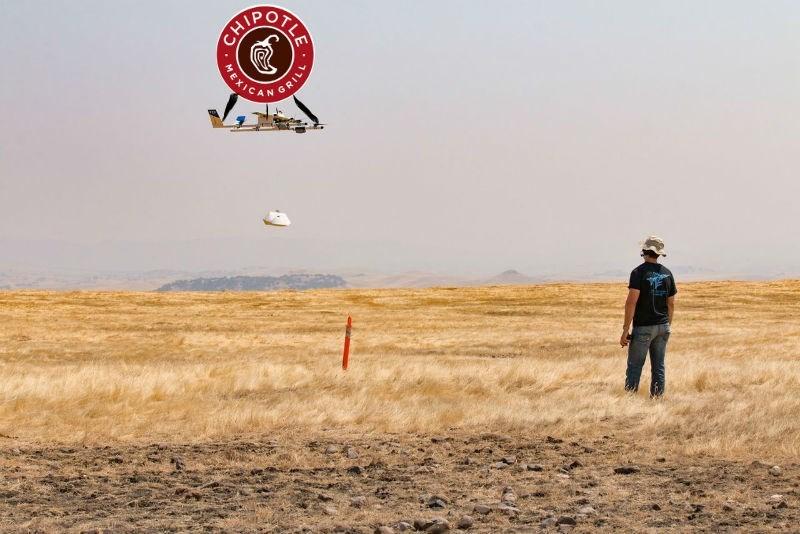 trending news chipotle burrito drone delivery