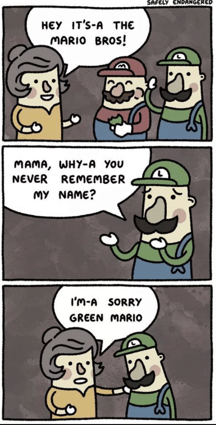web comics mario luigi Nobody Remembers Luigi