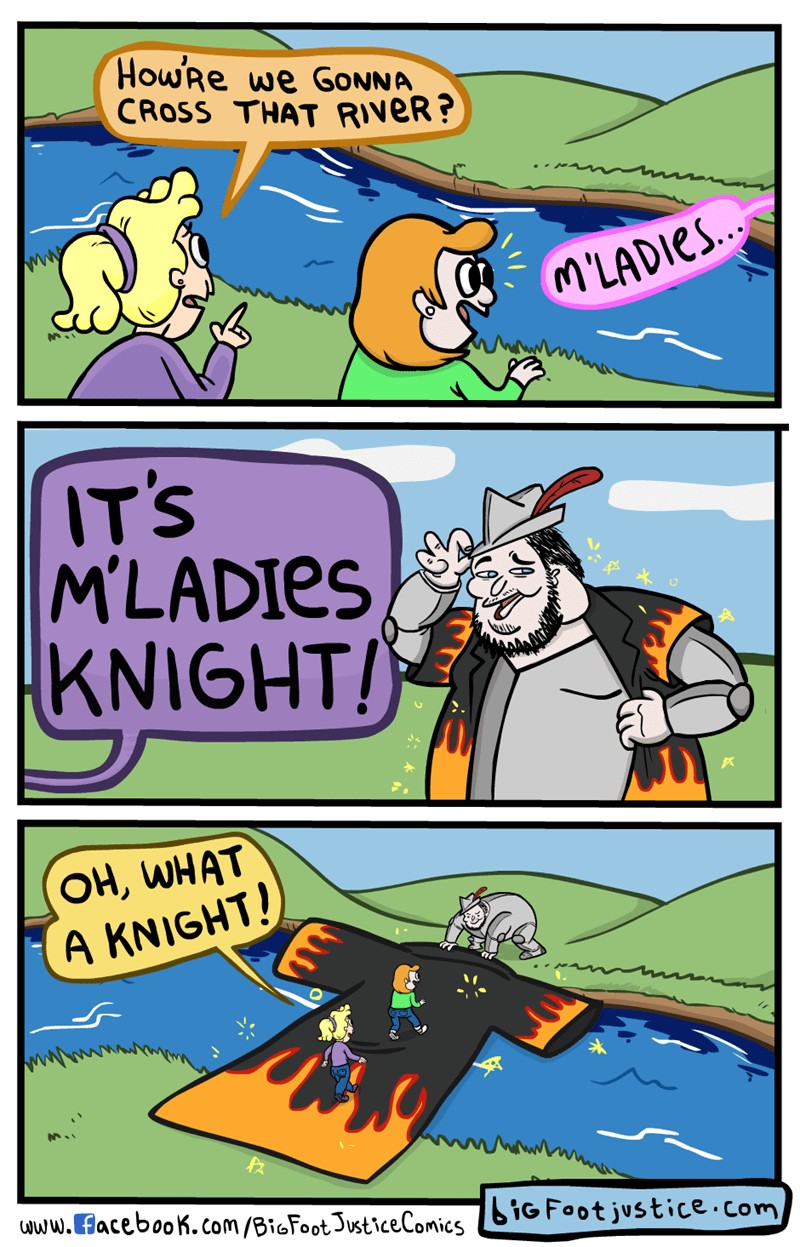 web comics fedoras When You Need a White Knight