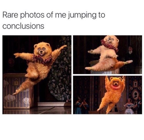 "web comics bear jumping to conclusions ""Rare"""