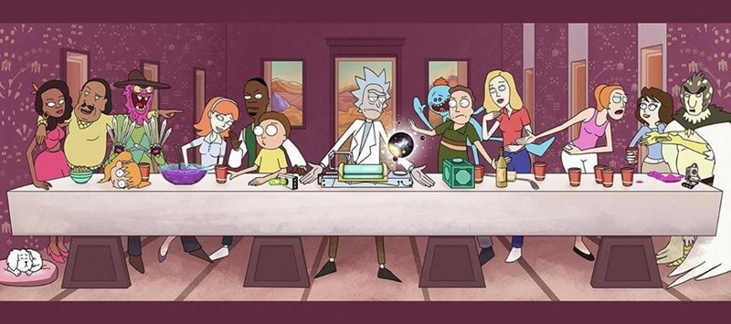 fan art rick and morty last supper Rick and Morty's Last Supper