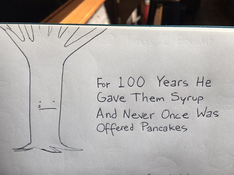 web comics tree pancakes So Selfish