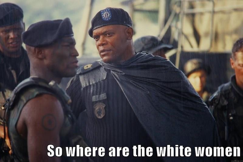 So where are the white women