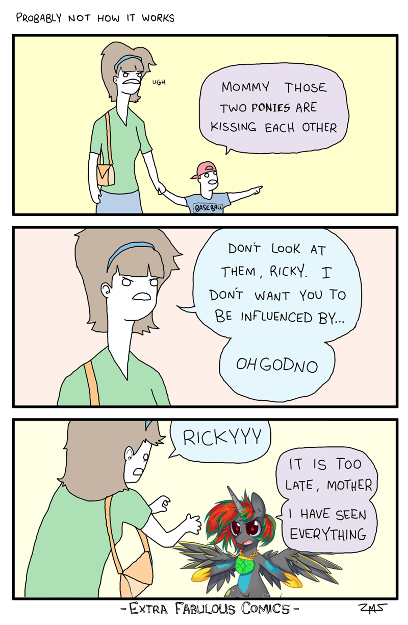 OC comic dont look at them ricky - 8974899456