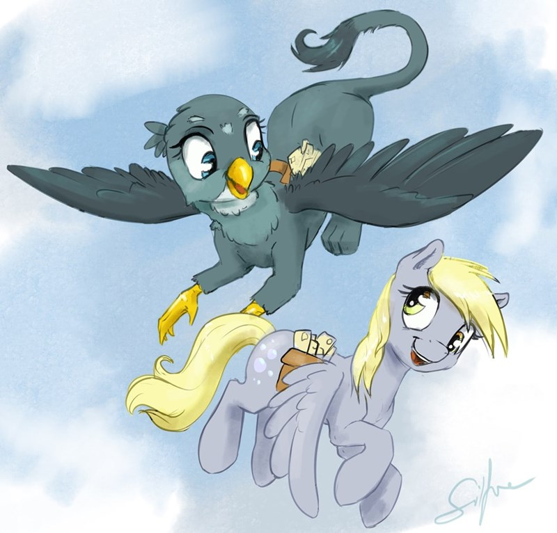 derpy hooves,the fault in our cutie marks,gabby