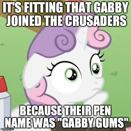 Sweetie Belle,sudden realization,the fault in our cutie marks,gabby