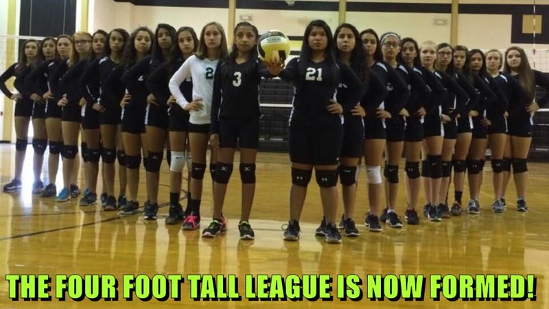 THE FOUR FOOT TALL LEAGUE IS NOW FORMED!