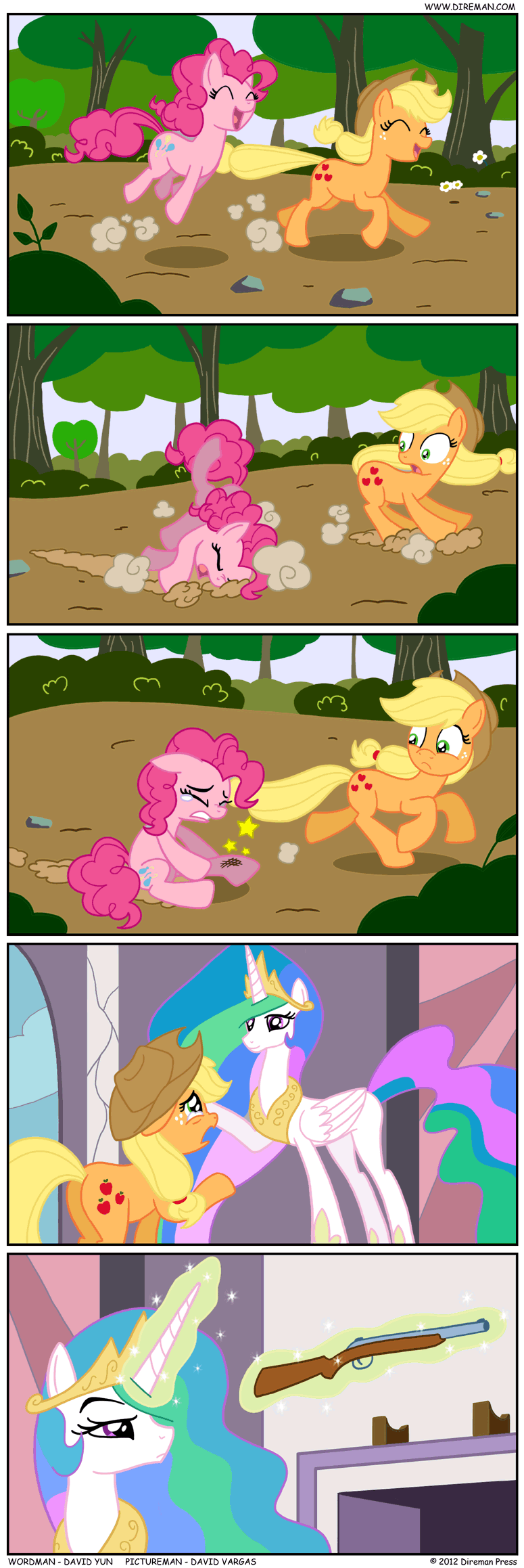applejack,pinkie pie,comic,princess celestia