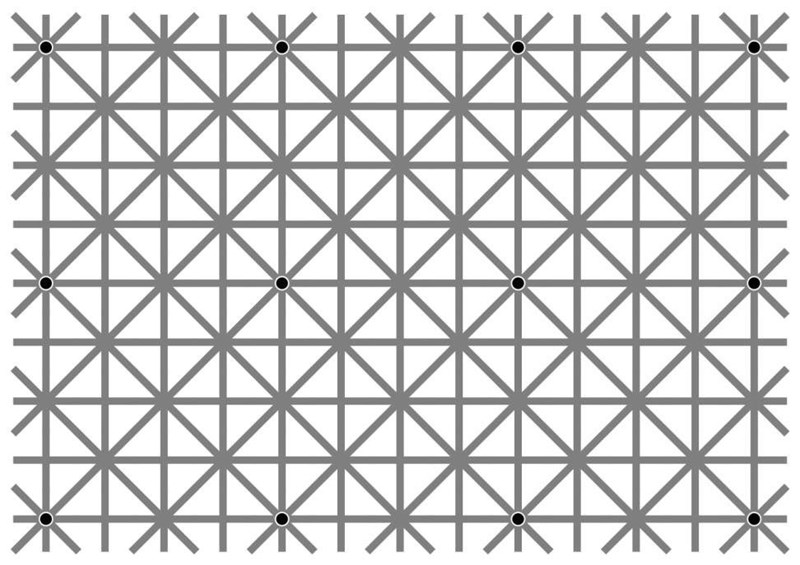 optical illusion dots This Optical Illusion Will Drive You Crazy Trying to See All 12 Dots at Once