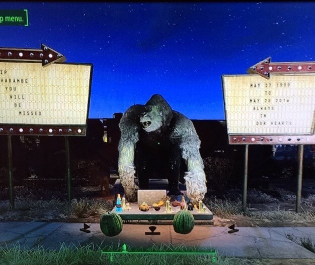 guys-friend-creates-harambe-memorial-in-fallout-4