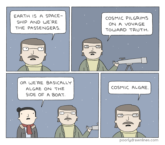web comics science earth How Small Do You Feel?