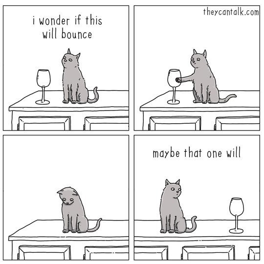 web comics cats Maybe Try One More, Just to Confirm