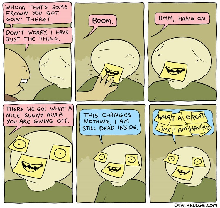 web comics smile sad Wow, You Seem Really Happy Now!