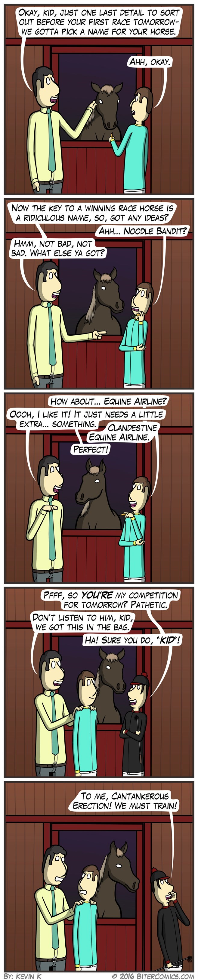 web comics horse names That's One Lucky Horse